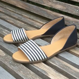 NWOT J Crew Morgan Women's open toe flats size 6